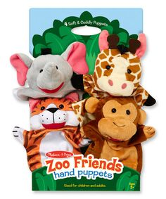 Melissa & Doug Zoo Friends Hand Puppet Set | zulily