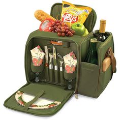 Treat your loved one to a romantic picnic with this green wine picnic basket. With a fully insulated interior, this set comes equipped with service for two. Its sturdy strap makes it easy to transport and it would be a great gift for a young family.