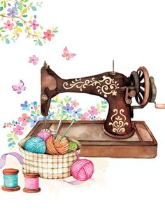 Liz Yee - Vintage Sewing Machine Mais