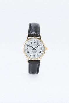 Classic Leather Watch in Black