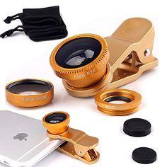 Luxsure® Universal Phone Lens 3 In1 Cell Phone Camera Lens Kits Included Fish Eye Lens + 2 in 1 Macro Lens & Super Wide Angle Lens / Universal Phone Clip / Soft Fiber Carrying Bag (Gold) Color: Gold Model: Gadgets Store http://www.amazon.com/dp/B012FI2H0U/ref=cm_sw_r_pi_dp_8bM8vb1JYYE69