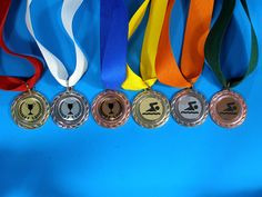 Lovely affordable medals for any function! We offer all sorts of inserts for these medals and we have so many ribbon colours available. Trophies And Medals, Ribbon Colors, Bronze, Colours, Bracelets, Silver, Gold, Jewelry, Charm Bracelets