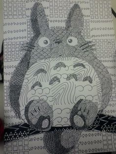 Totoro!! @Christy Polek Smith, made me think of you - doodles & totoro all in one :)