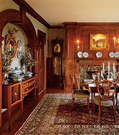 Huge and well designed formal dining room Beautiful Dining Rooms, Beautiful Homes, Beautiful Places, English House, English Manor, English Cottages, English Style, English Country Decor, Interior And Exterior