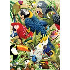 [SUBMOB]Quebra-cabeça 1000 Peças Aves - Grow - R$34,64