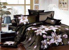 beautiful lily bedding set