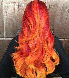 O mesmo vale para esse incrível cabelo cor de fogo