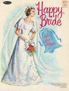 Happy bride paper doll