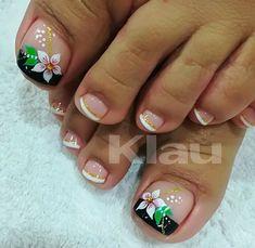Pretty Toe Nails, Cute Toe Nails, Aycrlic Nails, Blue Nails, Manicure And Pedicure, Hair And Nails, Toe Nail Color, Toe Nail Art, Nail Colors