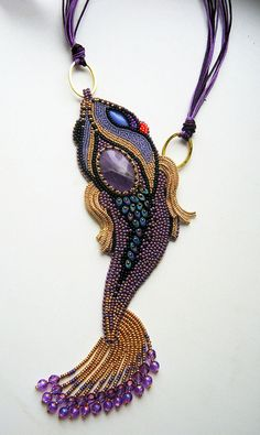 Design of the day - necklace Fish by Jrisska | Beads Magic http://beadsmagic.com/?p=7487