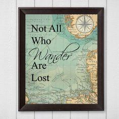 Nicht alle die Wandern sind verlorene Karte 8 x 10 Digital