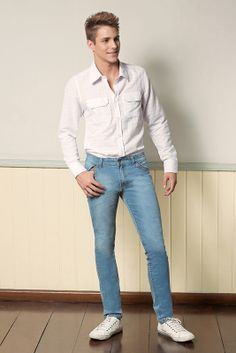 M2A Jeans | Fall Winter 2014 | Teen Collection | Outono Inverno 2014 | Coleção Juvenil | peças | calça jeans masculina; camisa branca masculina; jeans; denim.
