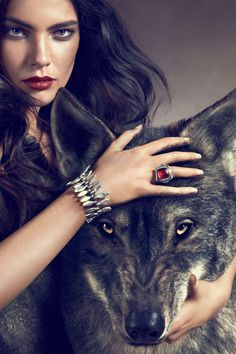 Red and her wolf.