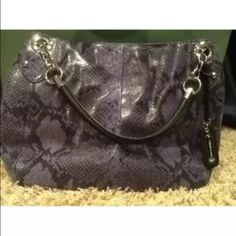 617b75a153 Cynthia Rowley Purple Leather Snakeskin Python Bag CYNTHIA ROWLEY Purple  (looks blue in some light