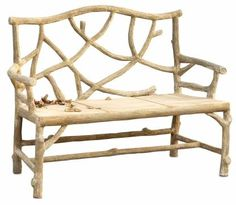 Woodland Faux Bois Concrete Bench - Mecox Gardens #interiordesign #home #decor #design #furniture #MecoxGardens