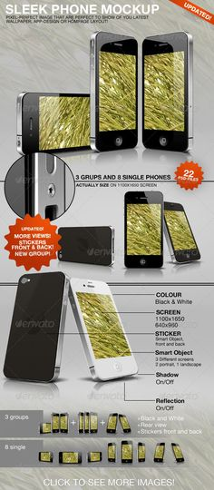 Sleek Phone Mockup Download here: https://graphicriver.net/item/sleek-phone-mockup/234922?ref=KlitVogli
