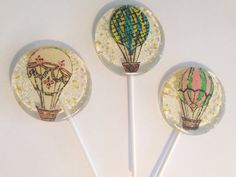NEW  3 Cotton candy flavored lollipops with hand by asecretforest, $18.00