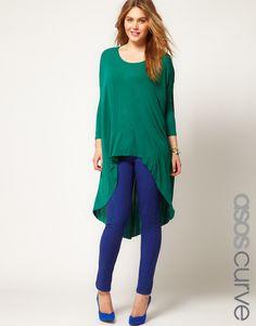 ASOS CURVE Exclusive Skinny Jean in True Blue #4
