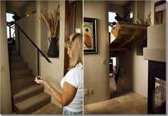 portas secretas escada