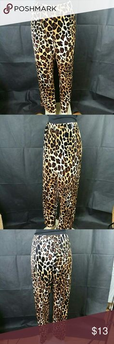 Leopard-print Fleece Pajama Pants Leopard Fleece Pajama Pants Comfy Animal Print, size Large, made of 100% polyester, $20.00 Retail price value, comes new without tag in good cosmetic condition, Sorry we cannot verify the brand, Pair with a simple tank or t-shirt for a great relaxed look. Intimates & Sleepwear Pajamas
