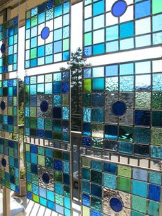 Large Stained Glass Window  9 Panel by VancouverStainGlass on Etsy, $2250.00