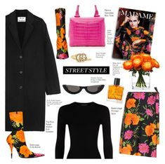 """""""My Street Style"""" by voguefashion101 ❤ liked on Polyvore featuring The Row, Balenciaga, Nancy Gonzalez, PAWAKA, Acne Studios, Miller Harris, Lux-Art Silks and Gucci"""