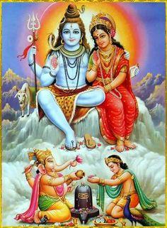 Hindu Deity God Shiva Family Print In India Shiva Linga, Mahakal Shiva, Shiva Art, Shiva Statue, Krishna, Durga Kali, Hanuman, Shiva Parvati Images, Durga Images