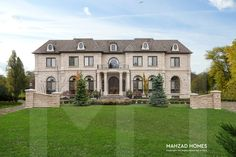 Mansion in Richmond Hill, Ontario, Canada Custom Built Homes, Custom Home Builders, Exclusive Homes, Palace Of Versailles, Richmond Hill, Home Inc, Custom Home Designs, House And Home Magazine, Building A House