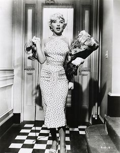 Marilyn Monroe Dress-Polka Dot Wiggle Pinup-Seven Year Itch Hallway Dress-
