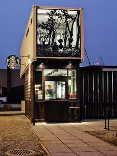 Starbucks, Tukwila, WA - Shipping Container Drive-Thru. Did you know this was there?