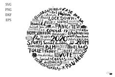 Tag cloud 2020 SVG quotes, Events, Silhouette, Phrases, Covi (1046476) | Illustrations | Design Bundles