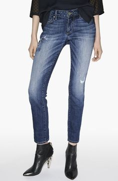 Paige Skyline jeans. Dolce Vita Harlan bootie that, of course, doesn't come smaller than a 6.