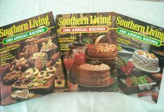Lot of 3 Southern Living Annual Recipes Cook Books  1985, 1986, 1987 (Hardcover)