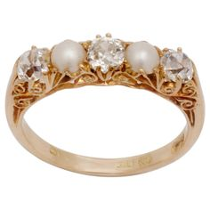 Pearl Eternity Ring | Tags: Antique , Diamond , Pearl , Ring ,