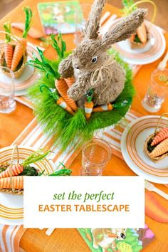 Hopping around from websites to DIY magazines to craft stores trying to figure out how to decorate your table for Easter? Wow your friends and family with a whimsical tablescape. Assemble a miniature Easter basket for each place setting or one larger one to use as a centerpiece. Add paper carrots and green straw to the basket for a pop of color and playfulness. Pick up a set of adorable Easter plates in various pastel colors. Read on for more Easter tablescape ideas from eBay.