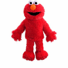 "Bring Elmo to life with hands-on fun. This plush full body hand puppet stands 15"" tall. Encourages creativity through pretend play. Develops fine motor skills."