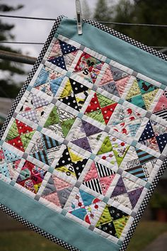 Down Under Doll Quilt Swap (DUDQS3) - Scrappy hourglass | Flickr - Photo Sharing!
