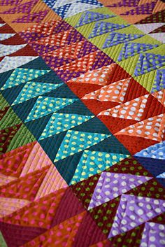 The Season for Geese - Flying Geese Quilt | Going to Pieces Quilt Baby, Half Square Triangle Quilts, Square Quilt, Scrappy Quilts, Mini Quilts, Quilt Block Patterns, Quilt Blocks, Quilt Kits, Quilting Projects