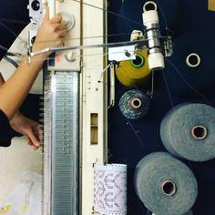 Nighttime knitting... #machineknitting #process #design
