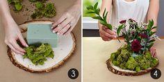 DIY Floral Cloche Centerpiece Steps 3-4
