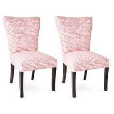 Check out this item at One Kings Lane! Pink Chloe Chairs, Pair