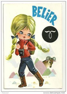 Big Eyes. Bélier. Petite Fille, Tresses Blondes