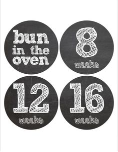 These monthly baby bump stickers are a great way to capture your pregnancy each month