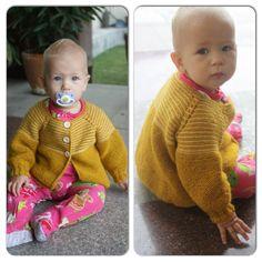 Just finished this cardigan for Olivia. Pattern by Lene Holme Samsøe. Yarn: Indiecita (100% Alpaca) and Arwetta (ekstra fin merino