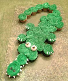 crocodile cupcake | ... Cupcakes and Cake Pops in South Florida | Pull Apart Alligator Cupcake