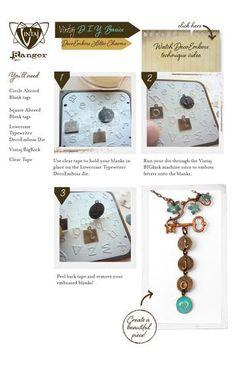 Vintaj DIY Jewelry DecoEmboss Letter Charms #vintaj #jewelrymaking #jewelry #vintajDIY #vintajluv #DIYjewelry