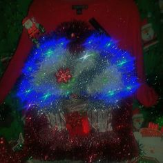 Light up ugly christmas sweater Check out this item in my Etsy shop https://www.etsy.com/listing/206263879/light-up-ugly-christmas-sweater-frankie