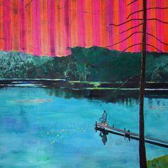 "Saatchi Online Artist: Tanja Vetter; Acrylic, Painting ""Angler"""