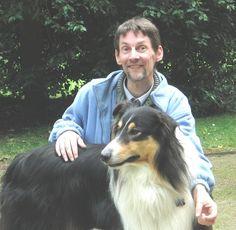 stefan mit Hund, with nice dog