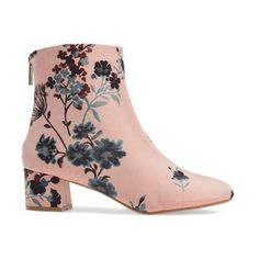 Women's Topshop Blooming Floral Bootie ($70) ❤ liked on Polyvore featuring shoes, boots, ankle booties, flower print boots, tapestry boots, topshop booties, topshop boots and floral boots
